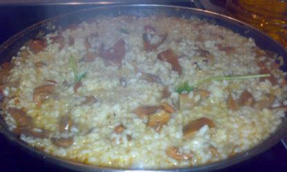Un sabroso y rico arroz con niscalos