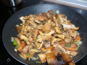 Receta de níscalos con verduras