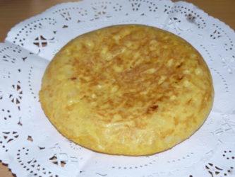 El maravilloso resultado de una buena receta de Tortilla de Patatas.