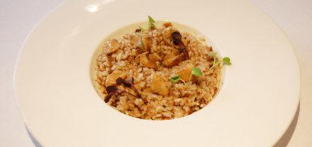 arroz meloso de rabo y boletus.