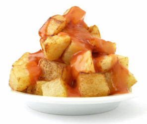 Patatas Bravas With Pimenton Sauce Recipe — Dishmaps