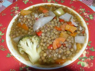 Receta de lentejas con verduras