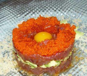 El excelente tartar de atún del restaurante ninja de las Rozas de Madrid.