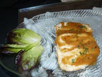 El pez mantequilla al miso está excelente.
