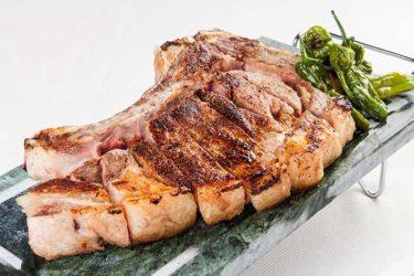 Restaurante la vascomadrileña con una carta muy variada con chuletones a la piedra